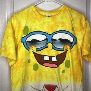 Vtg y2k spongebob universal studios all over shirt